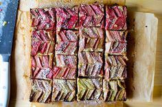 almond rhubarb picnic bars | smitten kitchen | Bloglovin'