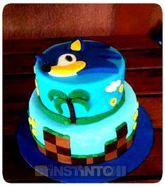 Torta de cumpleaños  Sonic