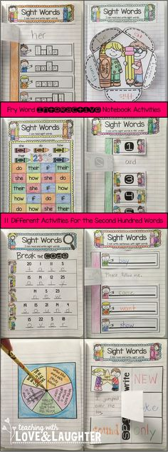 Fry Words Interactive Notebook Activities {The Second Hundred Words}