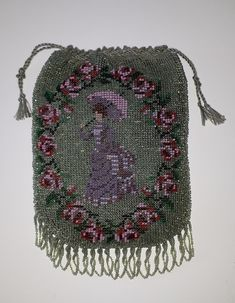Bead knitted purse, made with old beads by Tineke Nieuwenhuijse-Taal Evening Bags, Beads, Gifts, Vintage, Bead, Bag, Beading, Presents, Pearls