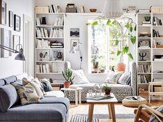 Salón con librería