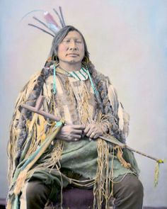 IRON-HORN-NATIVE-AMERICAN-INDIAN-HUNKPAPA-1872-8X10-HAND-COLOR-TINTED-PHOTO