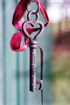 Heart-shaped key