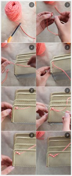 Cross stitch on office supplies: DIY :: LAST STITCH EFFORT. Make your mesh office supplies comfy. Brought to you by Shoplet.co.uk - everything for your business.