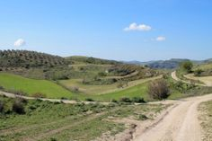 Countryside roads in mid Sicily