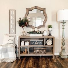 ㈥ 35 ivory arch wall decor gorgeous rustic living room that will melt your heart with 26 - ideasfyou Farmhouse Chic, Farmhouse Design, Urban Farmhouse, Farmhouse Interior, Farmhouse Table Decor, Arched Wall Decor, Foyer Decorating, Decorating Ideas, Console Table