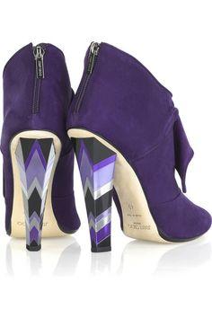 Jimmy Choo purple booties