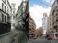 Paris avant et après Haussman - Paris before and after Haussman!