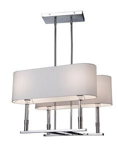 Carlton Collection 4 Light Chandelier by Artcraft Lighting shown in Chrome