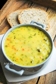 Zupa z kiszonych ogórków na bogato FIT - Just Be Fit Be Strong! Cheeseburger Chowder, Strong, Fitness, Food, Thermomix, Meal, Essen, Hoods, Keep Fit