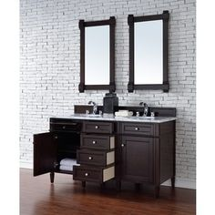 Shop for Brittany 60 Inch Double Vanity cabinet Burnished Mahogany. Get free delivery at Overstock.com - Your Online Furniture Outlet Store! Get 5% in rewards with Club O!