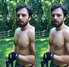 Seb working out today 7/22/17( OMFG)