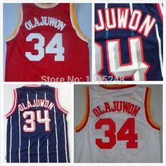 Find More Sports Jerseys Information about #34 Hakeem Olajuwon Jersey,Rev 30 Throwback Basketball Jersey,Best quality,Authentic Jersey,Size S  XXXL,Accept Mix Order,High Quality Sports Jerseys from Json Jerseys Store on Aliexpress.com