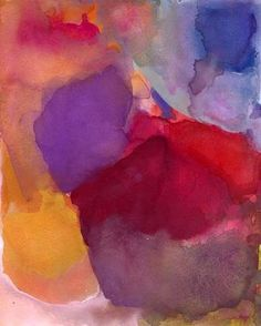 Large Art Print Abstract Watercolor 16 x 20 Calm by soveryhappyart, $45.00