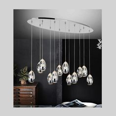 A gorgeous design from CWI Lighting. This breathtaking Perrier Chrome Chandelier is a beautiful piece from our Perrier Collection. With its sophisticated beauty and stunning details, it is sure to add the perfect touch to your decor. Linear Lighting, Linear Chandelier, Lighting Ideas, Dream Furniture, Happy House, Light Bulb Bases, Dining Room Sets, Chrome, Ceiling Lights