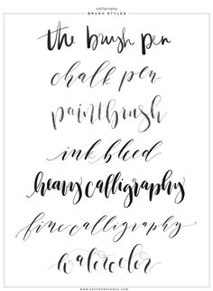 Calligraphy and Lettering Brushes for ProCreate! - Saffron Avenue : Saffron Avenue Pencil Calligraphy, Calligraphy Alphabet, Calligraphy Tutorial, Lettering Tutorial, Lettering Design, Calligraphy Tools, Hand Lettering, Brush Lettering, Caligraphy