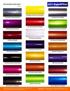 12 Best Car Paint Charts images | Auto paint colors, Car ...