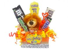 Anchetas para Mujeres Candy Bouquet, Ideas Para, Diy Gifts, Fathers Day, Catering, Lily, Basket, Teddy Bear, Toys