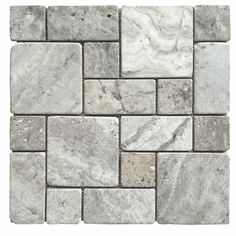 For the shower floor?  Avenzo Silver Versailles Mosaic Travertine Floor and Wall Tile (Common: 12-in x 12-in; Actual: 12-in x 12-in)