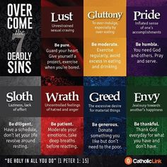 The Capital Virtues, which are the opposite of the seven deadly sins, are as…