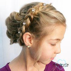 Pretty Hair is Fun: Easy Braid and Twist Updo Zipper Braid, Elsa Braid, Five Strand Braids, Infinity Braid, Pretty Braids, Flower Braids, Twisted Updo, Hair Dos
