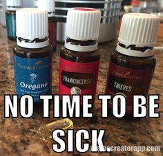 Supports your immune system: 2 drops Frankincense, 6 drops Oregano & 10 drops Thieves in a veggie capsule.