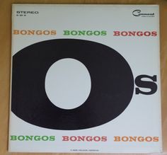 Bongos Bongos Bongos Vinyl LP 33 RPM Record by Los Admiradores Vintage 1950s Command Record Enoch Light Tony Mottola by retrowarehouse on Etsy