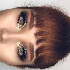 gold eyeshadow | makeup looks | makeup of the day | makeup inspiration | gold makeup } bold brows | aryanalynae.com