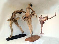Three dancers, driftwood made pretty by Tony Fredriksson