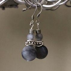 Handmade grey earrings Pure Products, Grey, Earrings, Handmade, Jewelry, Fashion, Gray, Ear Rings, Moda