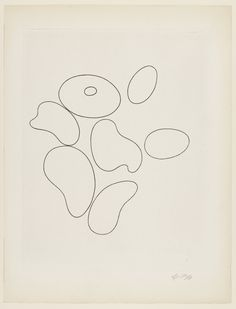 "antronaut: ""Jean (Hans) Arp - Composition with Seven Elements (plate, folio from 23 Gravures "" Jean Arp, Black And White Abstract, Ap Art, Gravure, Moma, Watercolor Print, Artist Art, Abstract Expressionism, Book Art"