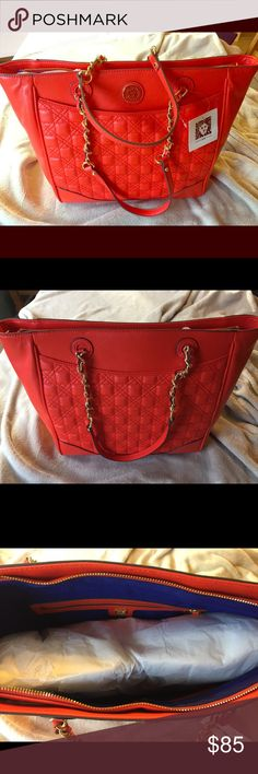 Authentic Anne Klein Bag NWT. Authentic Anne Klein bag that is very vibrant in color. I paid full price for this bag so please only send reasonable offers. Thank You for stopping by my closet!!! Anne Klein Bags Shoulder Bags