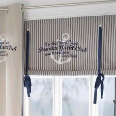 A roman blind in marine theme from Boel