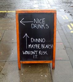 Not worth the risk - Funny Quotes : Looking for a quick laugh at the end of a stressful day? These funny quotes will make you laugh and beat away your blues. These quotes could be handy when you want to cheer someone up or simply have a good laugh! Deco Restaurant, Restaurant Signs, Pub Signs, Foodtrucks Ideas, Deco Cafe, Sidewalk Signs, Co Working, Chalkboard Signs, Chalkboards
