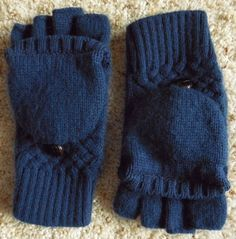 Womens Convertible Gloves Mittens Winter Blue Set 2 Knit Button Down Women Glove #Unbranded #WinterGloves #Winter