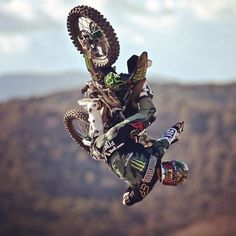 "photo: "" knows how to throw a whip! Motocross Action, Motocross Love, Motocross Riders, Freestyle Motocross, Mx Bikes, Valentino Rossi 46, Automobile, Dirtbikes, Parkour"