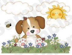 PUPPY DOG BUTTERFLY LADYBUG BABY NURSERY CHILDRENS WALL BORDER STICKERS DECALS | eBay