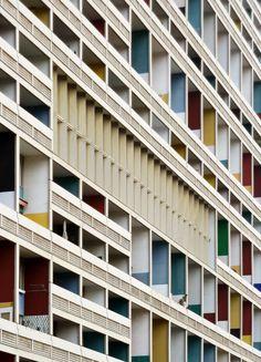 """hiromitsu: """" Unité d'Habitation (Wohneinheit), Le Corbusier, 1956-1958. / 11/2011 """""""