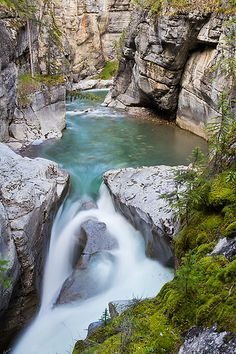 Maligne Canyon, Jasper National Park, Canada.I want to visit here one day.Please check out my website thanks. www.photopix.co.nz