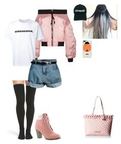 """""""Untitled #1266"""" by sapphirejones ❤ liked on Polyvore featuring Sacai, Peony & Moss, Retrò, Casetify and Betsey Johnson"""