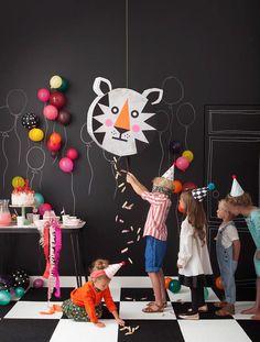 DIY Tiger Piñata   Animal Theme Party