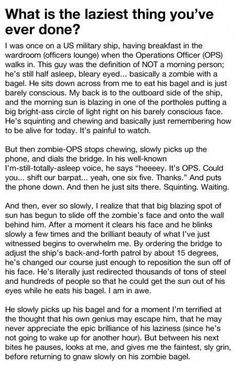 Wow, just wow. I am impressed by the laziness of this. I read this whole thing. Its so worth it. Omgoodness.