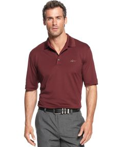 d4aed9f8b Greg Norman for Tasso Elba 5 Iron Slim-Fit Performance Polo   Reviews -  Polos - Men - Macy s