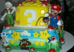 CakeSide - Super Mario Bros Cake submitted by Max and Goldie's on www.cakeside.com!