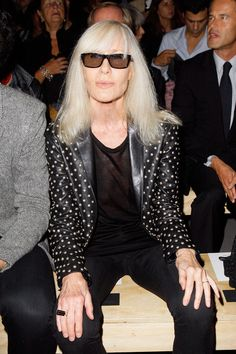 Sitting front row at Saint Laurent's Spring 2014 runway show - Betty Catroux.