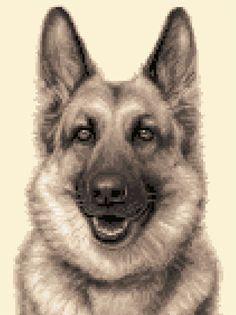 GERMAN SHEPHERD, ALSATIAN dog counted cross stitch kit
