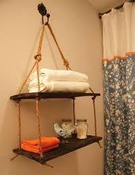 Resultado de imagen para hanging shelf with rope