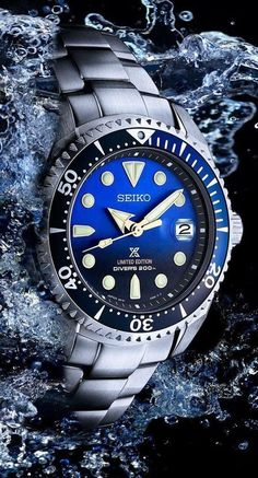 TimeZone : Industry News Stylish Watches, Luxury Watches For Men, Cool Watches, Seiko Automatic Watches, Seiko Watches, Seiko Marinemaster, Seiko Solar, Seiko Presage, Mens Designer Watches