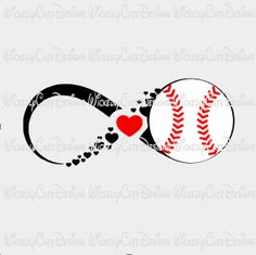 Infinity Baseball SVG, DXF, EPS, PNG Digital File – Wickedly Cute Designs