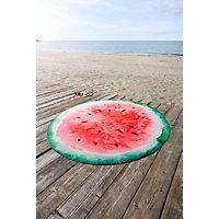 STRANDHANDDUK MELONE - röd, textil (165cm) - ESPOSA
